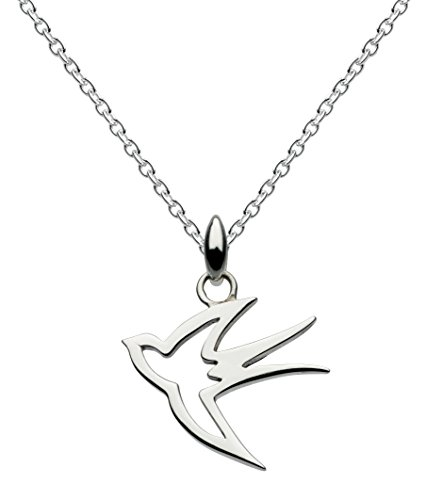 Dew Sterling Silver Swallow Necklace of Length 18 inch on 45.7 cm Chain