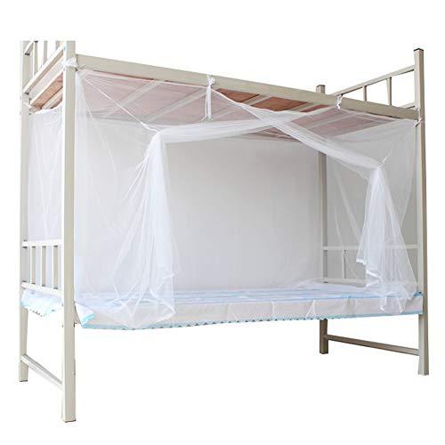 Einfache Installation Moskitonetz mückennetz,Folding Keine chemikalien zugesetzt 1 Einträge Rechteckiger netzvorhang Wohnheim Home-Weiß 90x190cm(35x75inch)
