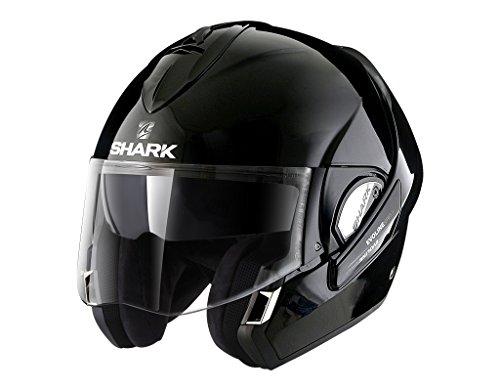 Shark Evoline he9350eblkm Casco Moto–Serie 3Fusion BLK, NERO, Taglia M