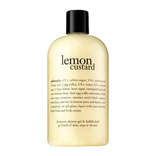 Lemon Custard Shampoo, Shower Gel & Bubble Bath by Philosophy for Women - 16 oz Bath & Shower Gel