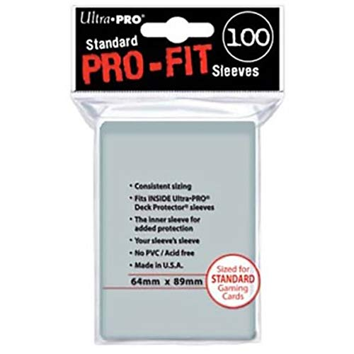 Ultra Pro-Fit Sleeves Fundas Para Cartas, Color transparente, Miscelanea (82712 )