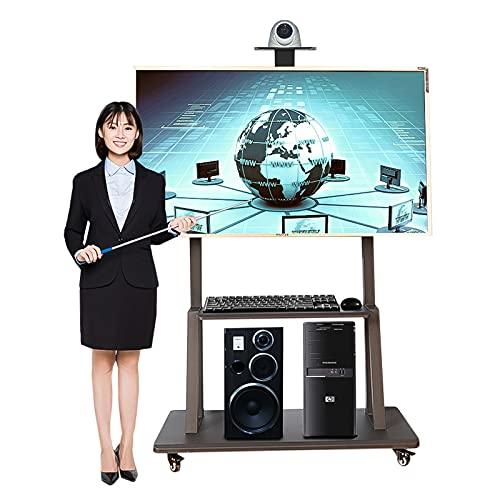 YXX Soporte TV Trole Soporte De Suelo para TV para Televisores De Más De 55 Pulgadas, (5 Pies-6 Pies) Carro De TV Alto con Ruedas De Freno, para Pantallas Planas/Plasma/LCD/LED/OLED