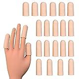 20 pieces Gel Finger Cots,Finger Protector, Silicone Finger Cap Finger Cover, Finger Support Sleeve for Trigger Finger, Hand Eczema, Finger Cracking and More