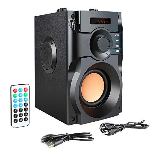 WETERS Altavoz Bluetooth, estéreo Grande de la energía del Altavoz inalámbrico Bluetooth Altavoces Subwoofer Bajos Pesados Jugador de música Ayuda Pantalla LCD FM TF de Radio