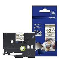 ブラザー工業 TZe-R234 TZeテープ リボンテープ(ホワイト地/金字) 12mm