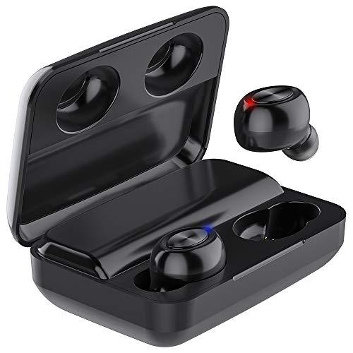 Bluetooth Kopfhörer in Ear Kabellos, HOLALEI Ohrhörer Bluetooth 5.0 kabellose Kopfhoerer, HiFi Stereo Sport Wireless Headset Wasserdicht, mit 3000mAh Powerbank Ladebox für iPhone Smartphone