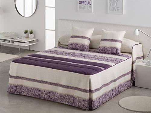 LaNovenaNube - Colcha edredón AMBER cama 135 - Color Malva