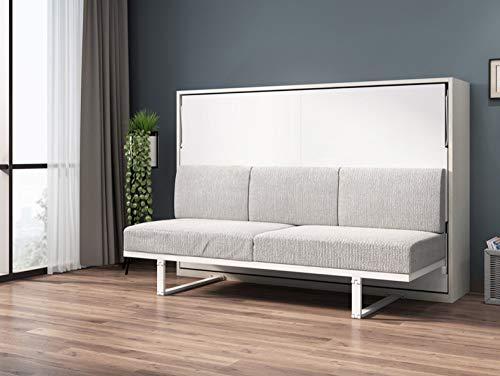 LKU Bett Leinen Kunst Bettrahmen weiches elektrisches Sofa Schrankbett Hauptschlafzimmermöbel Kamas Beleuchtung, 1