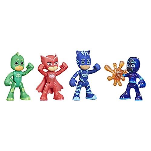 PJ Masks Set di Personaggi Che Si Illuminano al Buio, Giocattolo prescolare per Bambini dai 3 Anni in su, F2836