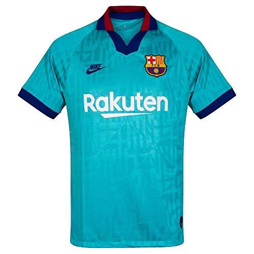 Nike FC Barcelona Vapor Match 2019/20 T-Shirt 19/20, Herren L Cabana/deep royal Blue