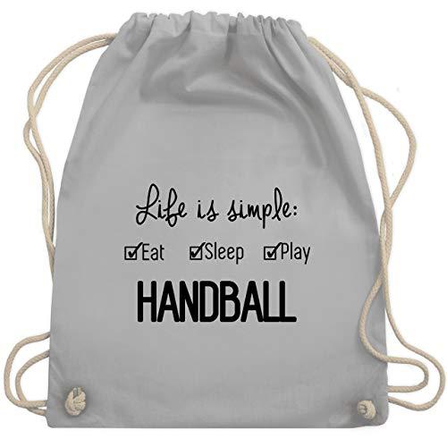 Shirtracer Handball - Life is simple Handball - Unisize - Hellgrau - handball turnbeutel - WM110 - Turnbeutel und Stoffbeutel aus Baumwolle