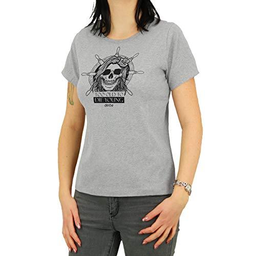 derbe Frauen Shirt Totdy grau - L