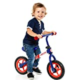 Bicicleta sin Pedales Minibike Molto - sin Casco. con sillín y Manillar Regulables (Azul)