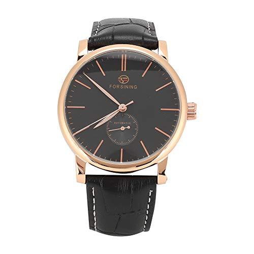 GSX Reloj de Hombre Reloj De Cuero De Cuero De La Correa De Cuero De La PU De La PU Automática De La Moda del Reloj Mecánico Reloj De Negocios