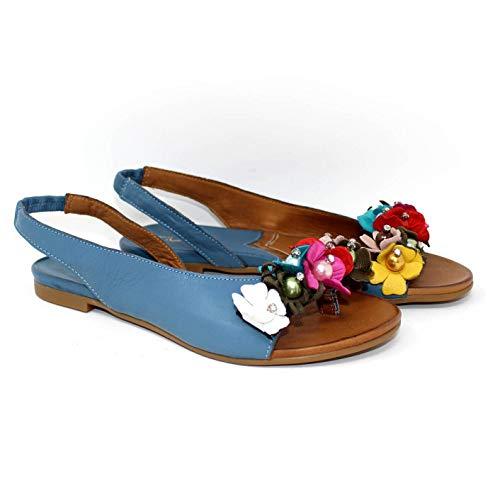 No name, Avio, 39 No Name Tiurai sandali in pelle da donna decorazioni fiori primavera estate