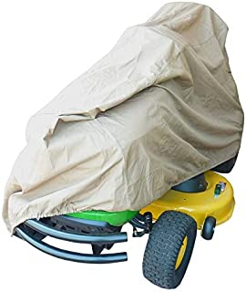 Deluxe Riding Lawn Mower and Garden Tractor Cover 300 Denier | Dual Air Vents Prevent Ballooning | Fits Decks up to 54