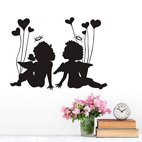 Kyzaa Muurstickers voor meisjes en kleine jongens met hartjes, zelfklevend, papier, voor kinderen, slaapkamer, cadeau, bruiloftsdecoratie