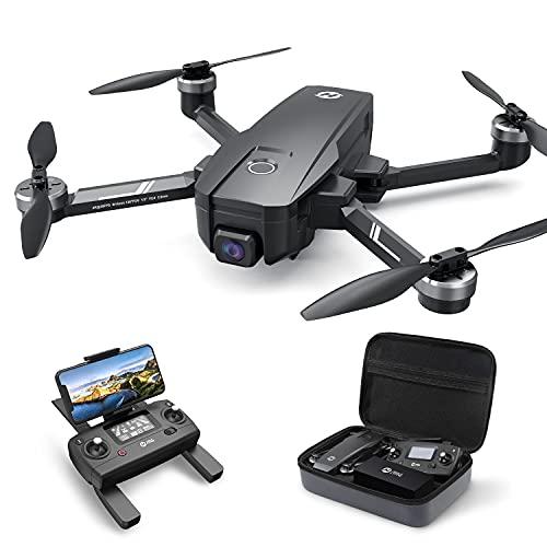 Holy Stone ドローン 4Kカメラ付きGPS搭載 EIS手ブレ補正 折り畳み 4K Sonyセンサー ブラシレスモーター 130°広角カメラ 収納ケース付き フォローミーモード オートリターンモード 高度維持 ヘッドレスモード 2.4GHz モード1/2自由転換 国内認証済み HS720E黒