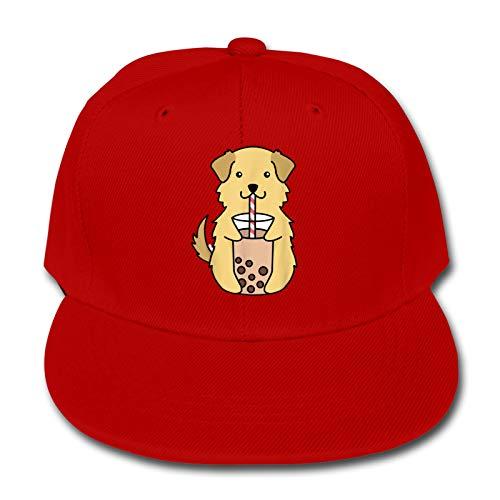 Labels4school Golden Retriever Bubble Tea Baseball Cap Verstellbare Hüte Kind Hip...