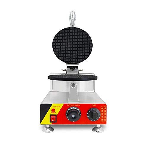MaquiGra Máquina Comercial para Hacer Cucuruchos de Helados Barquillero Profesional Waffle Maker Eléctrica...