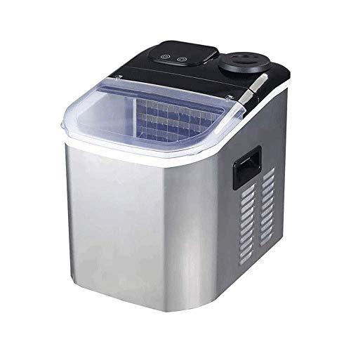 Máquina de fabricante de hielo: máquina de hielo con contador para uso en el hogar - hace cubitos en 10 minutos - 25kg de hielo en 24 horas - Método de entrada de agua de barril para el hogar Peng Pen