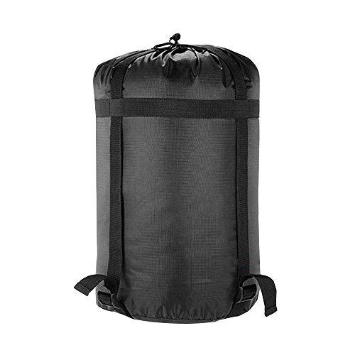 GEERTOP 2 Stück Leichter Kompressions-Stuff Sack 24 L Nylon Schlafsack Aufbewahrungs Sack Organizer für Outdoor Camping Groß Schwarz