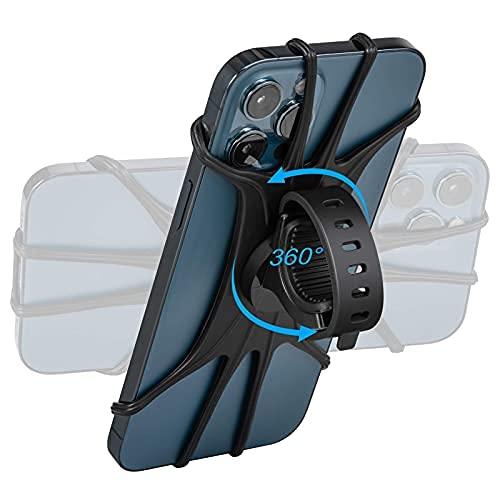 Soporte para el manillar de la montura de la moto bicicleta – Soporte universal para manillar de moto compatible con iPhone ...