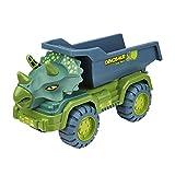 fdsfa Juguetes de construcción de dinosaurios, volcado, grúa y hormigonera, camiones de construcción, vehículos de construcción, juguetes como regalos de Navidad o cumpleaños para niños y niñas