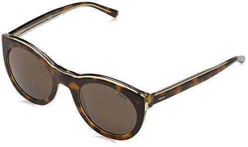 Polo Ralph Lauren Damen 0PH41244073 Sonnenbrille, Braun (Light Havana On Smoke Crystal/Brown), 49