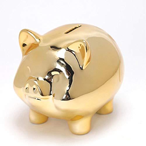 NoBrand Céramique Or Cochon Tirelire Creative Mignon Creative Décoration de La Maison Tirelire pour Enfants Tirelire Tirelire Tirelire Bouchon
