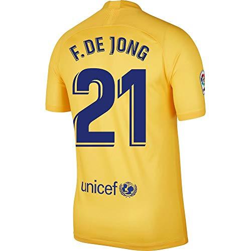 Nike Barcelona 4. F. De Jong 21 Trikot 2019-2020 (Fan Style Beflockung) - M