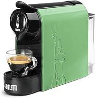 bialetti gioia, macchina da caffè espresso per capsule in alluminio sistema bialetti il caffè d'italia, supercompatta, verde menta