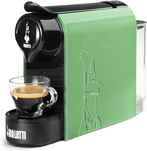 Bialetti Gioia, Espressomaschine für Kapseln aus Aluminium, System Bialetti la Caffè d'Italia, superkompakt, Mintgrün