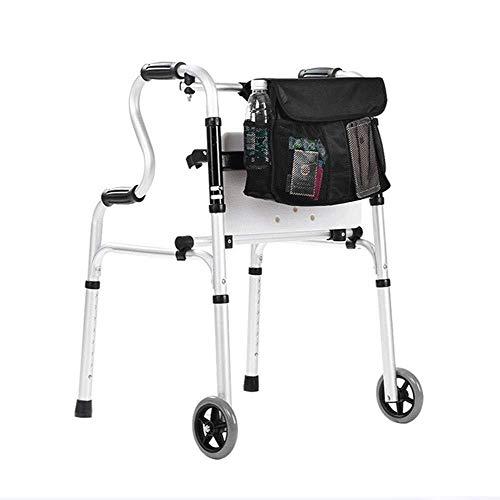 LXDDJZXQ Andador para Ancianos Walker, Caminante Mayor Ajustable, Ligero y Plegable, con Ruedas for Personas con Movilidad Reducida, Caminar, bastón de 4 Patas, bastón Antideslizante