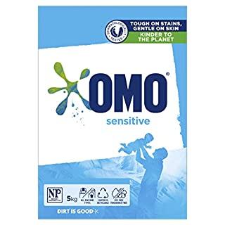 Omo Sensitive Laundry Detergent Washing Powder Front & Top Loader 5kg (Packaging May Vary) (B07CZ8TFYL) | Amazon price tracker / tracking, Amazon price history charts, Amazon price watches, Amazon price drop alerts