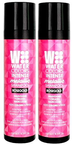 Intense Metallic Watercolors Rose Gold Hair Shampoo 8.5 Oz (2 Pack)