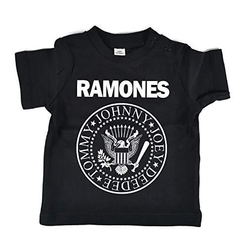 LaMAGLIERIA Jersey Shirt für Babys Ramones - Rock Baby-T-Shirt, 12-18 Monate, Schwarz