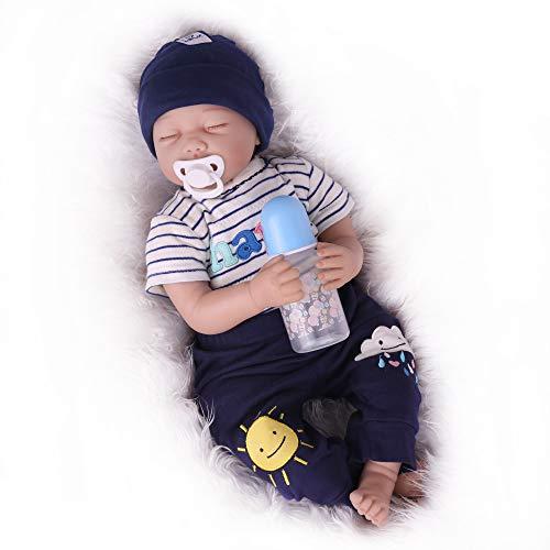 Kaydora Reborn Baby Doll Boy, 22 inch Soft Weighted Body, Cute Lifelike Handmade Silicone Sleeping Doll