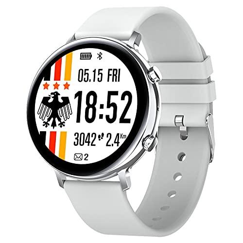 lizeyu GW33 Pantalla a Color Pulsera Inteligente Llamada Bluetooth Reloj Deportivo Frecuencia cardíaca Contador de Pasos IP68 Impermeable Gris Plateado