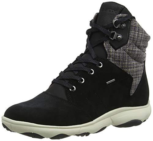 Geox Damen D NEBULA 4 X 4 B ABX A Chukka Boots, Schwarz (Black C9999), 38 EU