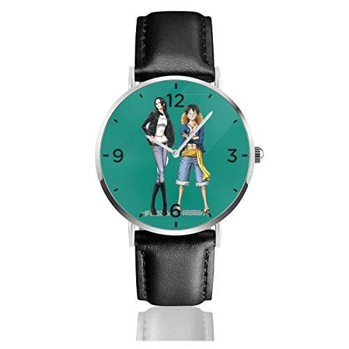 Relojes de Pulsera One Piece-Monkey D con Correa de Cuero PU