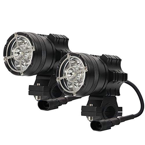 12-80V LED Proyector de Motocicletas Tres Modos de luz Fuerte/Doble estroboscopio/Izquierda y Derecha estroboscópica 6000K Fog Ultra-Long Long LED Foco de Motocicleta LED (Couleur : 6LEDs 1Pair)