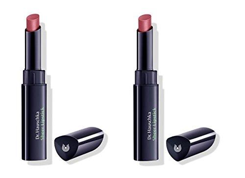 Dr.HAUSCHKA–Sheer Lipstick 01Majalis 2Packungen von 2G, Lippenstift, 100% Natur, cremige Textur, weiche Lippen