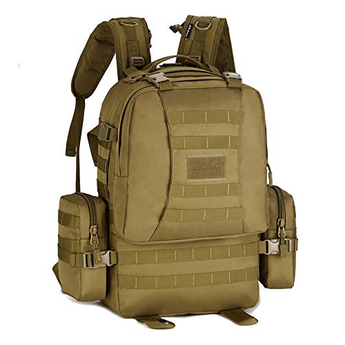 YUHAN Hiking Backpack, 50L Tactical Backpack Military Army Combat Rucksack MOLLE 15.6 inch Laptop Rucksack Trekking Backpack Green