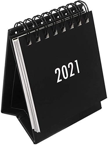 2021 Standing Desk Calendars Mini Desktop Monthly Calendar for School Home Office Schedule Planner(Black)