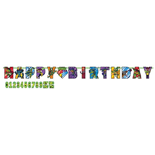 Rise of the TMNT™ Large Customizable Bithday Banner - 1 pc