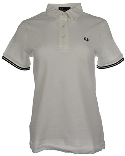 Fred Perry Polo para mujer, G9114, color blanco Blanco 42