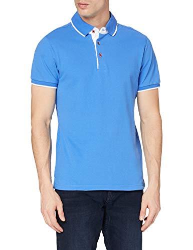 Clique Herren Seattle Poloshirt, Blau (Bright Blue/White), S