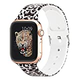 Sport Band Compatible with Apple Watch Band 40mm 38mm iWatch Band 38mm 40mm, Pattern Soft ...