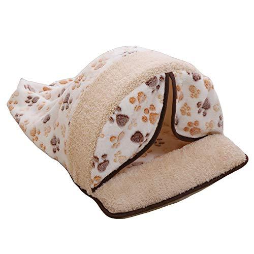 Anjing Katzenschlafsack, Fleece, weich, selbstwärmend, waschbar, Katzenbetten